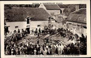 Ak La Celle les Bordes Yvelines, Chasse à Courre Chasse de la Sainte Hubert, Bénédiction de la Meute
