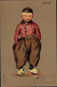 Künstler Ak Bram, Junge in niederländischer Tracht