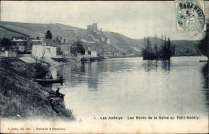 Ak Les Andelys Eure, Les Bords de la Seine au Petit Andely