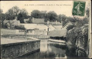 Ak Corbeil Essonne, Vue sur l´Essonnes
