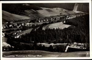 Ak Rottenbach Köniseee-Rottenbach, Blick auf den Ort, Fliegeraufnahme