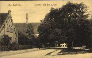 Ak Bordesholm Schleswig Holstein, Kirche und alte Linde