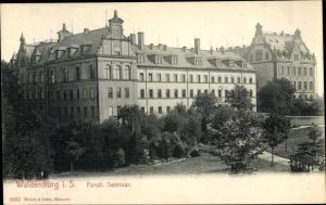 Ak Waldenburg in Sachsen, Fürstliches Seminar