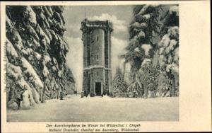 Ak Wildenthal Eibenstock im Erzgebirge, Auersberg, Auersbergturm im Winter