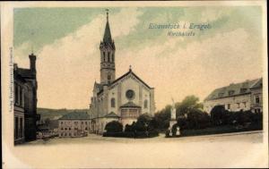 Ak Eibenstock im Erzgebirge Sachsen, Kirchplatz, Kirche