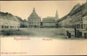Ak Dippoldiswalde im Osterzgebirge, Marktplatz