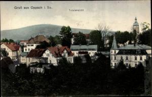 Ak Oppach in der Oberlausitz, Totalansicht der Ortschaft