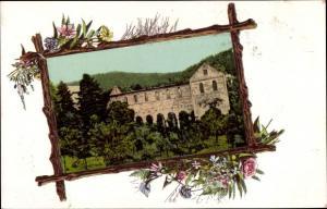 Passepartout Ak Paulinzella Königsee Rottenbach in Thüringen, Klosterruine