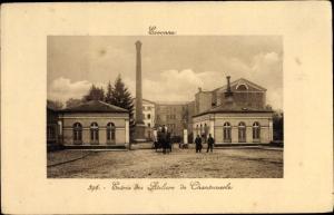 Ak Essonnes Essonne, Entrée des Ateliers de Chantemerle