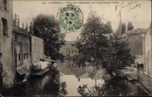 Ak Corbeil Essonne, Vue d´Ensemble, Imprimerie Crété