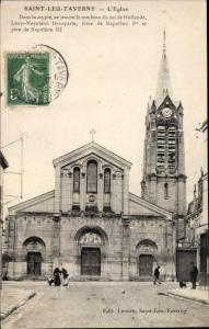 Ak Saint Leu Taverny Val d'Oise, L´Eglise