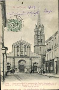 Ak Saint Leu Taverny Val d'Oise, Eglise, Le caveau contient les tombeaux de Charles Bonaparte