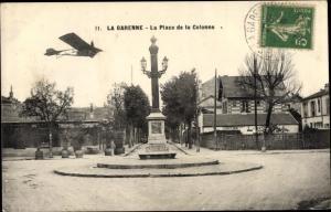 Ak La Garenne Colombes Hauts de Seine, Place de la Colonne