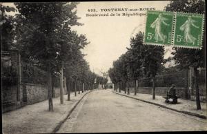 Ak Fontenay aux Roses Hauts de Seine, Boulevard de la République