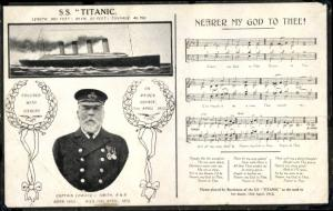 Lied Ak Nearer my God to Thee, Dampfschiff SS Titanic, White Star Line, Captain Edward J. Smith
