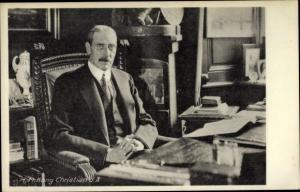 Ak König Christian X von Dänemark, Portrait