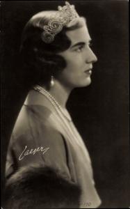 Ak Prinzessin Ingrid von Schweden, Portrait