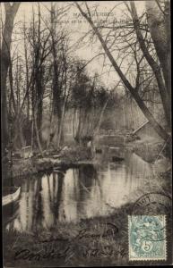 Ak Malesherbes Loiret, L´Essonne et le Vieux Pont