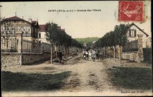 Ak Saint Leu Val d´Oise, Avenue des Tilleuls