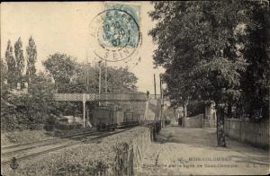 Ak Bois Colombes Hauts de Seine, Passerelle sur la ligne de Saint-Germain