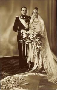 Ak König Olav V von Norwegen, Märtha von Schweden, Hochzeit 1929