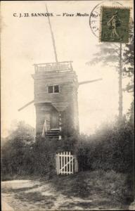 Ak Sannois Val d'Oise, Vieux Moulin