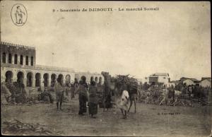 Ak Djibouti Dschibuti, Le marche Somali, Kamel