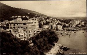 Ak Abbazia Kroatien, Panorama