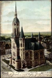 Ak Rheydt Mönchengladbach im Ruhrgebiet, Neue evangelische Kirche