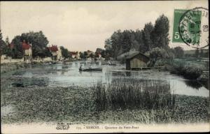 Ak Samois sur Seine Seine et Marne, Quartier du Petit Pont