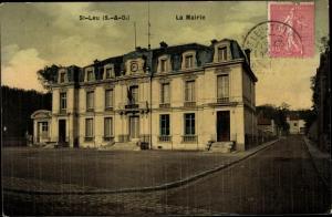 Ak Saint Leu Val d´Oise, La Mairie
