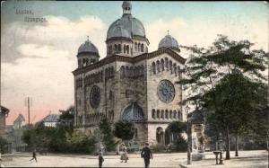 Judaika Ak Landau in der Pfalz, Synagoge