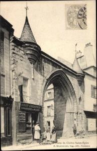 Ak Corbeil Essonne, Square Saint Jean, Porte du Cloître Saint Spire