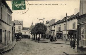 Ak Saint Gratien Val d'Oise, Place d´Armes