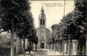 Ak Saint Gratien Val d'Oise, Avenue de l´Église