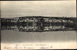 Ak Epone Yvelines, Vue de la Seine, Île de Rangiport