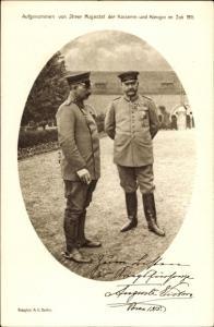 Ak Poznań Posen, Kaiser Wilhelm II. mit Generalfeldmarschall Paul von Hindenburg