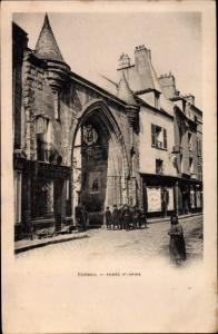 Ak Corbeil Essonne, Porte Saint Spire