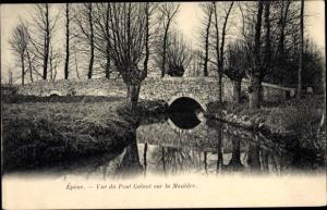 Ak Epone Yvelines, Vue sur le Pont Galant sur la Mauldre