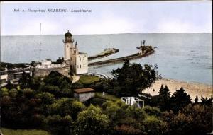 Ak Kołobrzeg Kolberg Pommern, Leuchtturm