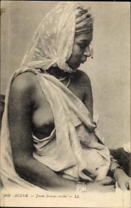 Ak Jeune femme arabe, Algerierin, Portrait