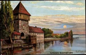 Künstler Ak Thomas, Paul, Konstanz Bodensee Baden Württemberg, Rheintorturm, Tuck 685 B