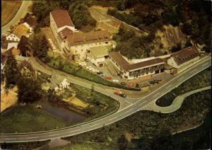 Ak Lohmar in Nordrhein Westfalen, Castell Haus Steineck, Fliegeraufnahme