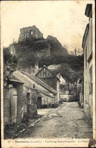 Ak Montoire Loir et Cher, Faubourg Saint Oustrille, Le Château