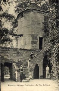 Ak Cergy Val d´Oise, Anciennes Fortifications, La Tour du Secret