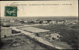 Ak Riva Bella Calvados, Vue Générale de la Plage