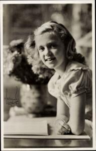 Ak Prinzessin Birgitta von Schweden, Portrait, 1945