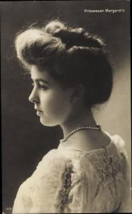 Ak Prinzessin Margaret von Schweden, Portrait