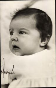 Ak Prinzessin Desirée von Schweden, Portrait als Baby