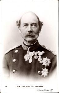 Ak König Christian IX von Dänemark, Portrait